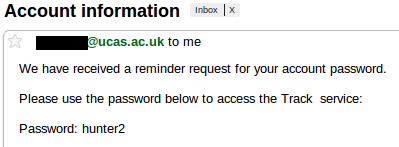 Password reminder email